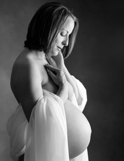Maternity and Newborn Photography Sarasota Florida Black and white studio
